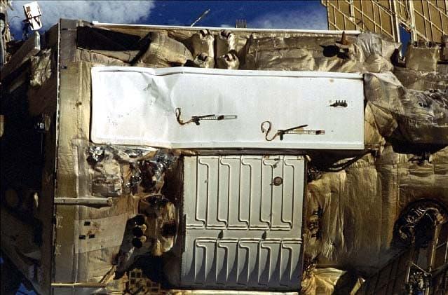El impacto en el radiador - NASA