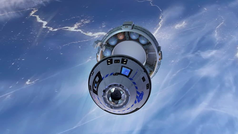 Separación del módulo de servicio - Boeing