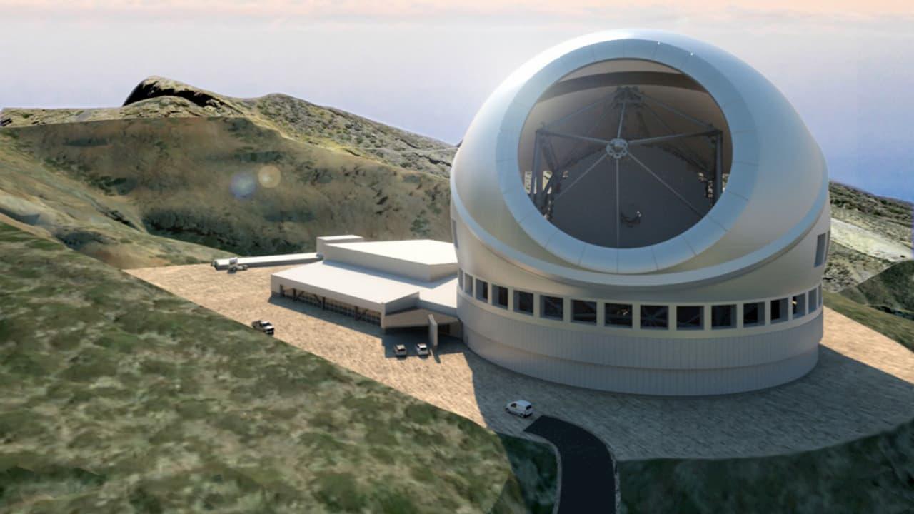 Impresión artística del TMT en La Palma – M3 Engineering