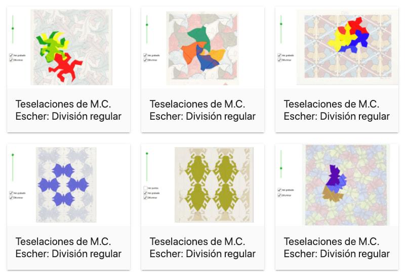 Teselaciones de M.C. Escher – GeoGebra