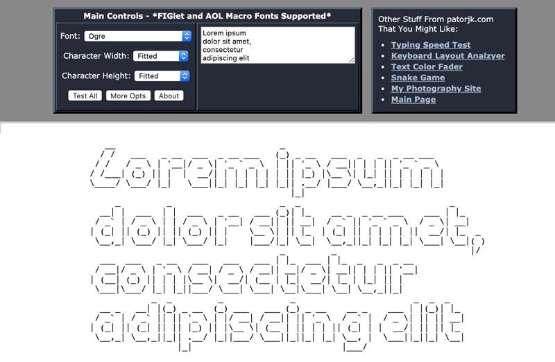 Conversor texto a ASCII Art