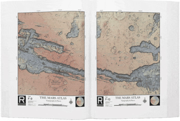 Uno de los mapas de The Mars Atlas