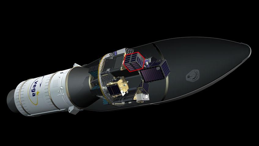 Posición del UPMSat-2 durante el lanzamiento - Arianespace