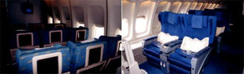 El interior del avión