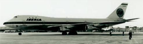 El EC-BRO, primer B-747 de Iberia