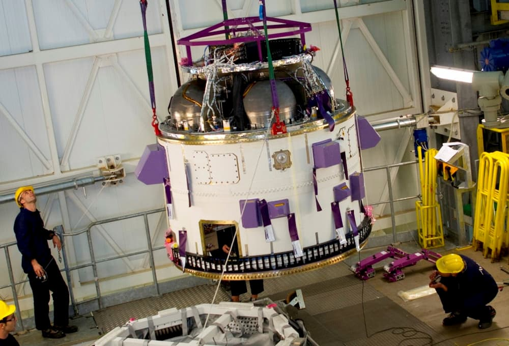 Instalación de la cuarta etapa en el Vega - ESA