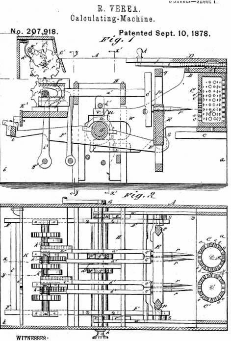 Patente de la máquina
