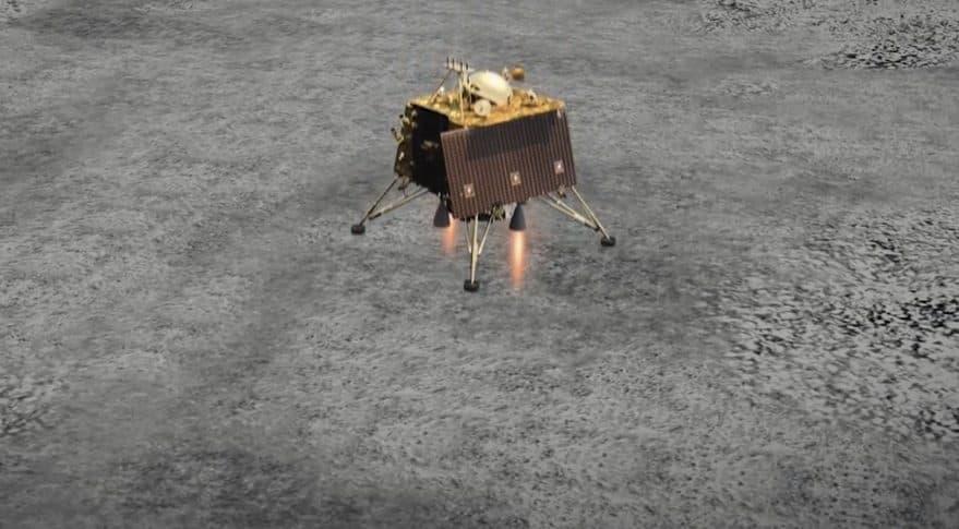 Impresión artística de Vikram posándose en la Luna - ISRO