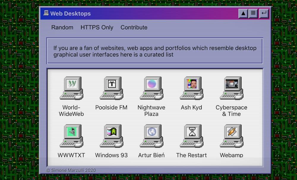Web Desktops / Simone Marzulli