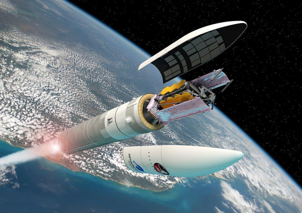 Impresión artística del lanzamiento del JWST – ESA/D. Ducros
