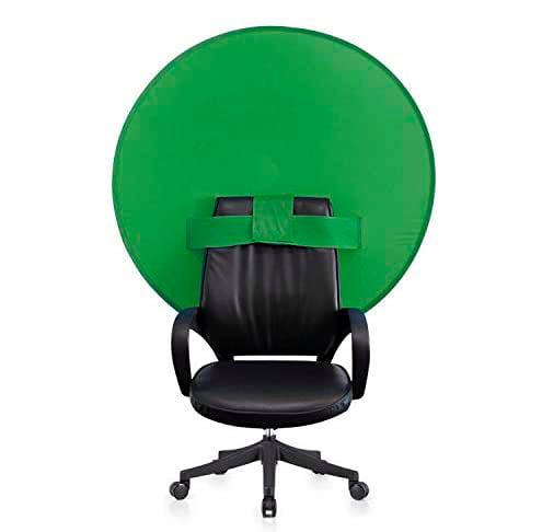 Fondo verde croma silla