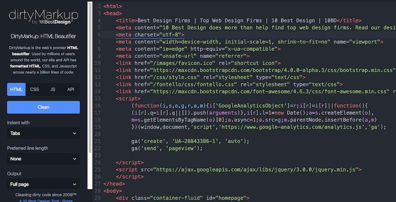 Un embellecedor de código HTML, CSS y JavaScript: copiar, pegar y ya queda más bonito