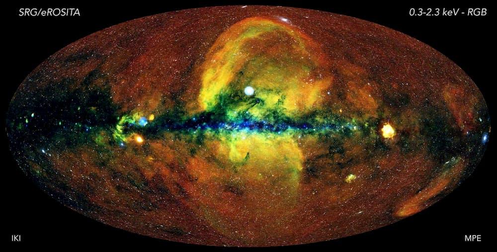El cielo en rayos X visto por eROSITA – Jeremy Sanders, Hermann Brunner y el equipo eSASS (MPE); Eugene Churazov, Marat Gilfanov (en representación de IKI)