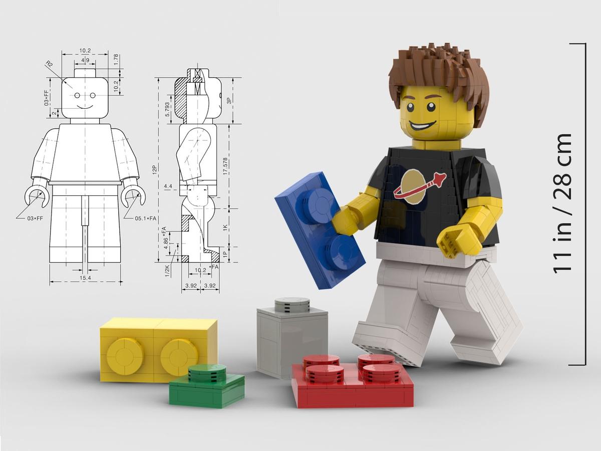 Una minifig de Lego gigante