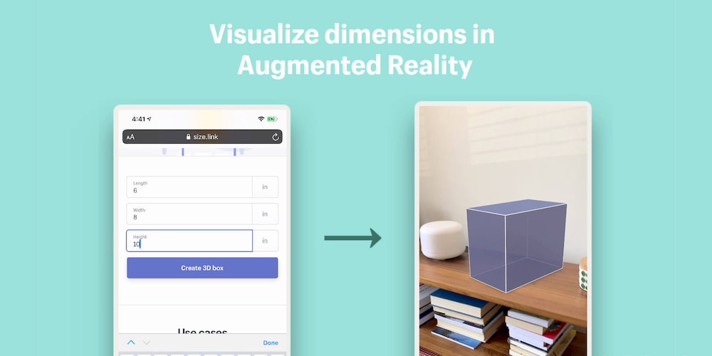 Size.link - Visualize Dimensions in AR