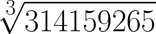 Raíz cúbica de pi