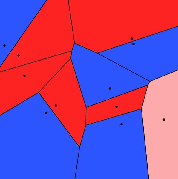 El juego de los diagramas de Voronoi