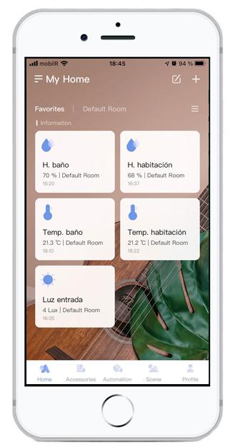 Aquara Home en un iPhone