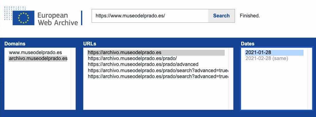 European Web Archive