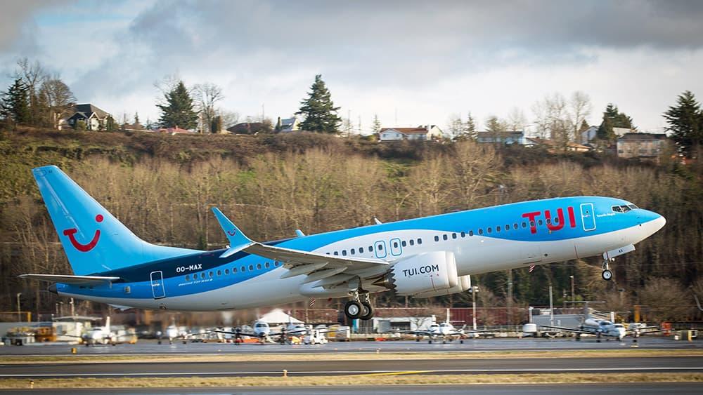 El 737 MAX de TUI fly Belgium que hizo el vuelo de vuelta al servicio – Boeing/Craig Larsen