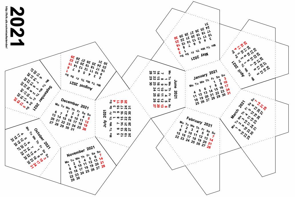 Calendarios dodecaédricos