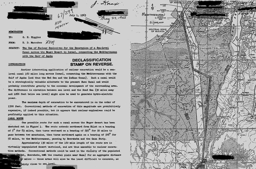 Canal alternativo Suez - Israel