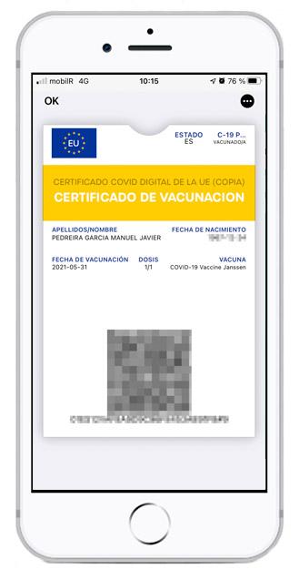 Certificado de vacunación de la UE en Wallet un iPhone