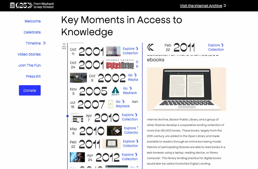 25º aniversario de The Internet Archive