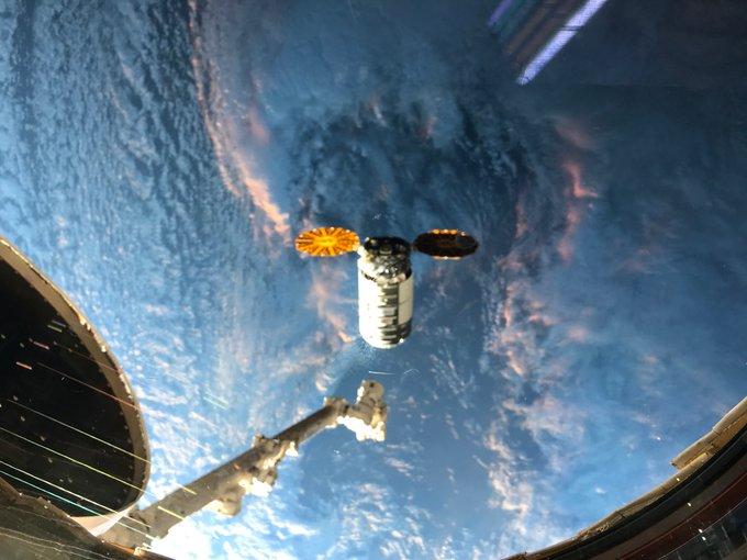 La Cygnus 15 a punto de ser capturada por la EEI – Soichi Noguchi