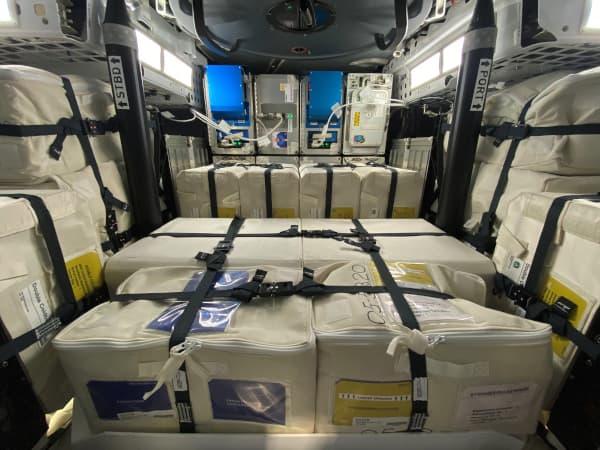 Interior de la Dragon 21 antes de emprender su viaje de vuelta – NASA