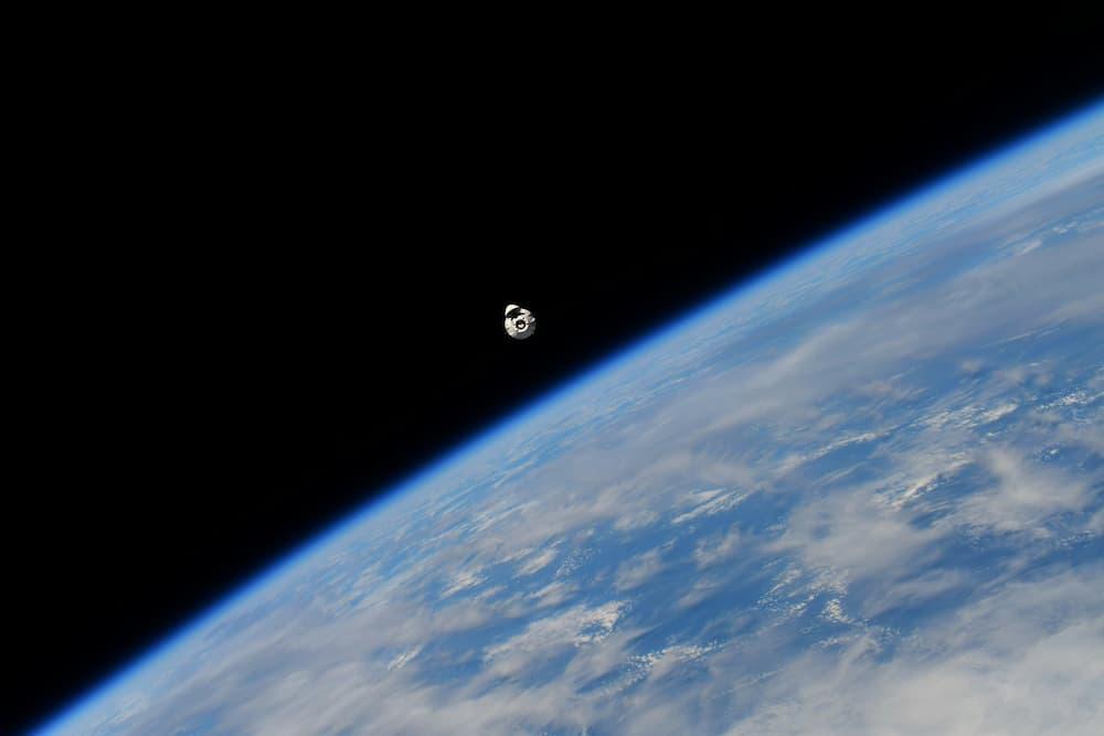 La Dragon 23 durante su aproximación a la EEI – Thomas Pesquet/ESA