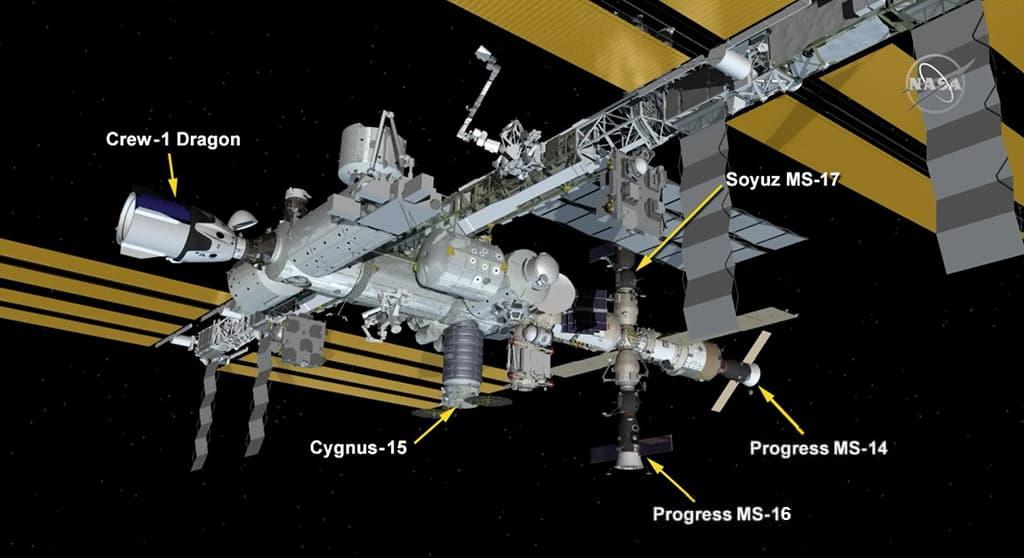 Configuración de la EEI después del traslado – NASA
