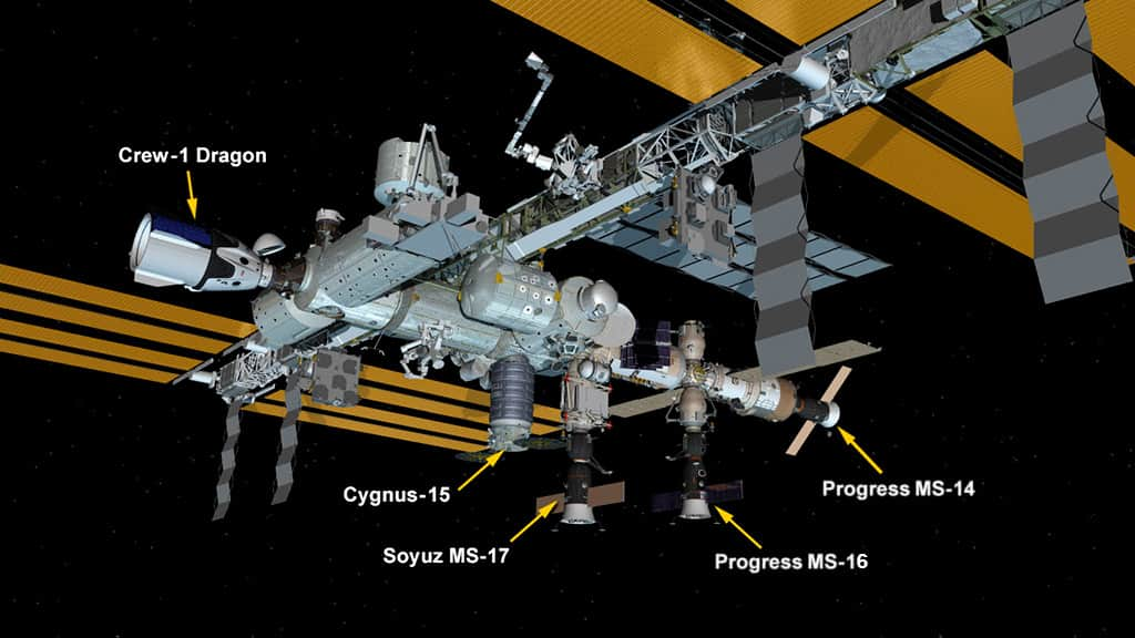 Configuración de la EEI tras la llegada de la Cygnus 15 – NASA