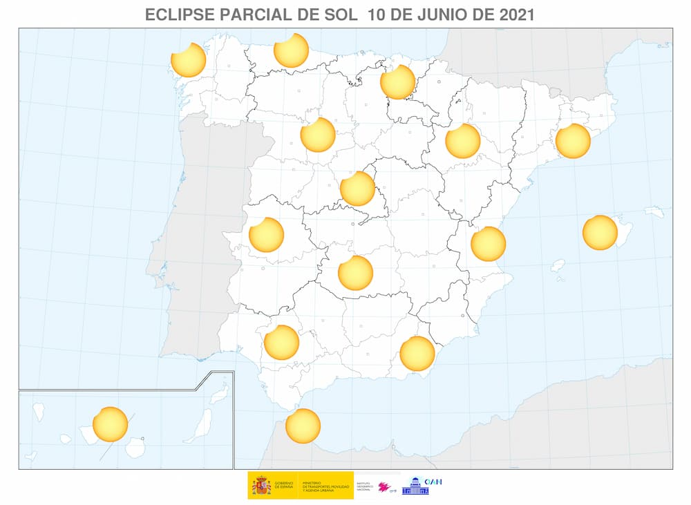 Visibilidad del eclipse en España – IGN/OAN