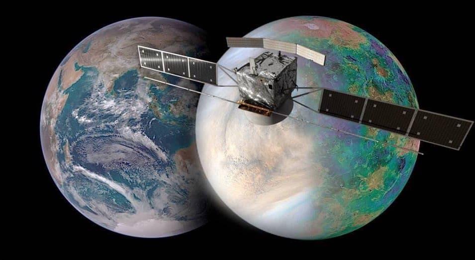 EnVision, la Tierra y Venus – NASA / JAXA / ISAS / DARTS / Damia Bouic / VR2Planets