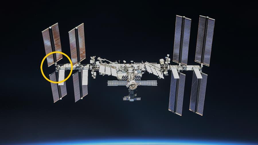 La EEI con el segmento P6 marcado – NASA