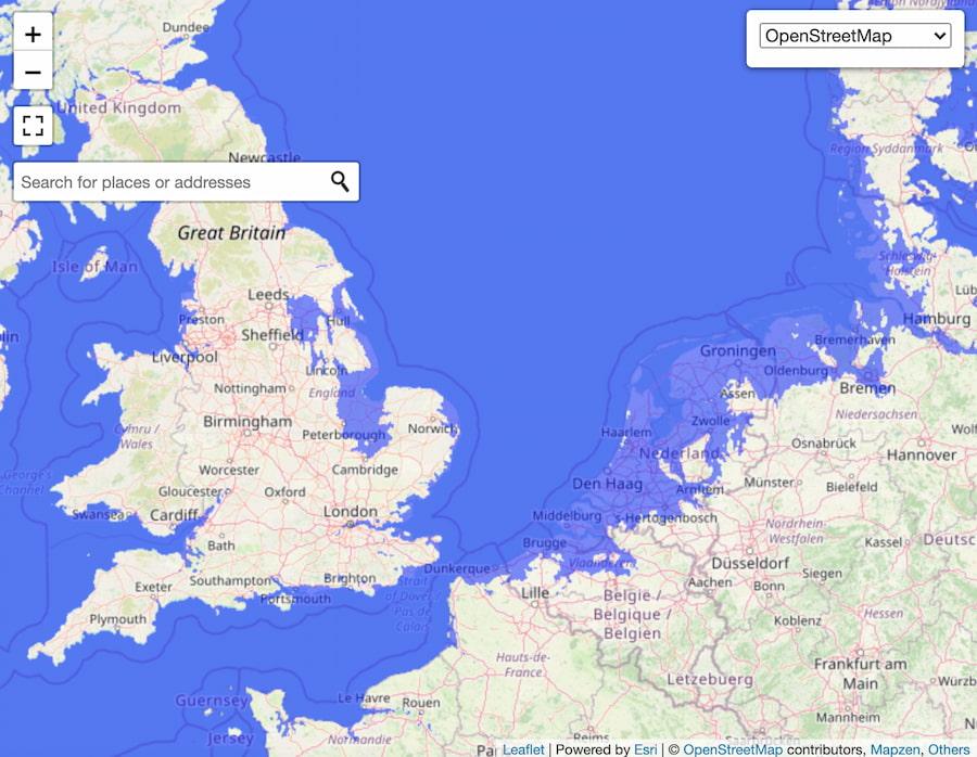 Europa / FloodMap
