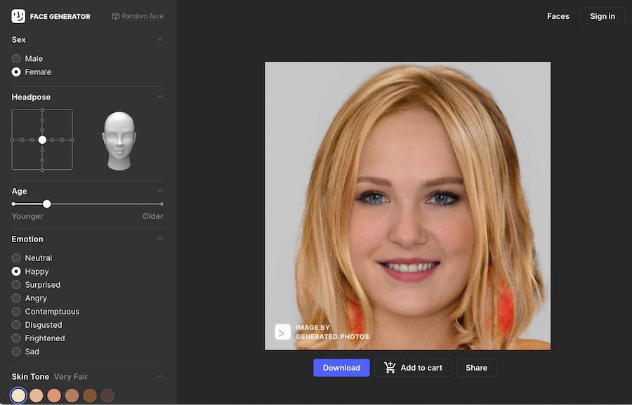 Generador de rostros