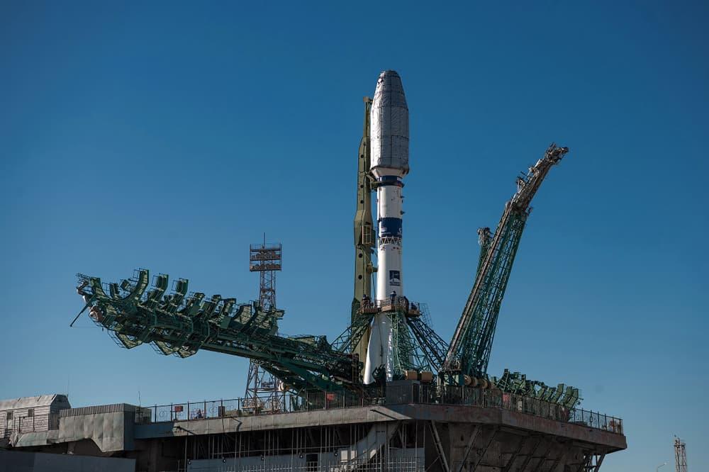 El cohete en la plataforma – GK Launch Services
