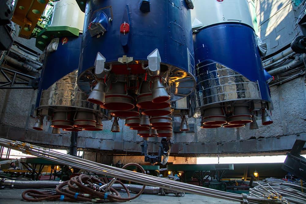La parte inferior del cohete que queda en el foso – GK Launch Services