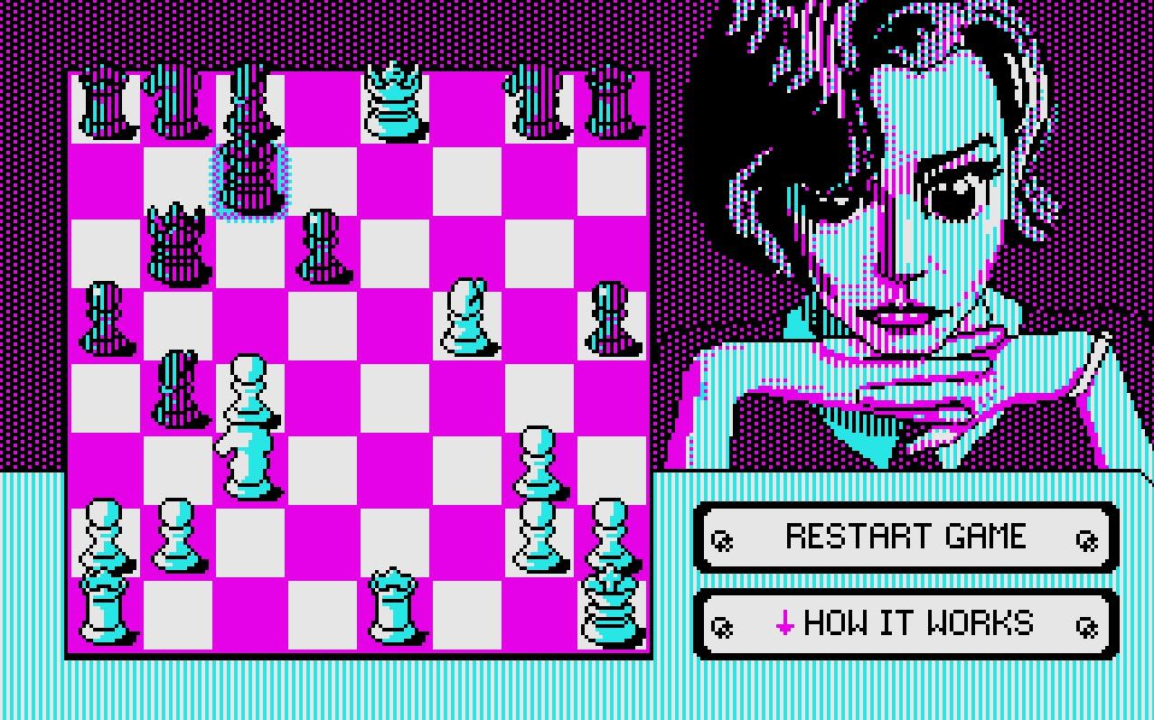 The Kilobyte's Gambit - 1k chess game