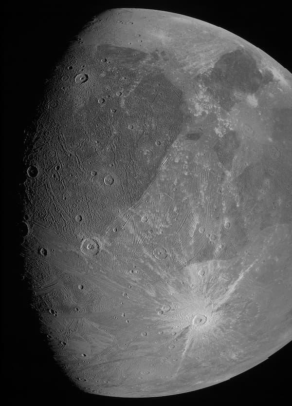 Ganimedes por la JunoCam el 7 de junio de 2021 – NASA/JPL-Caltech/SwRI/MSSS