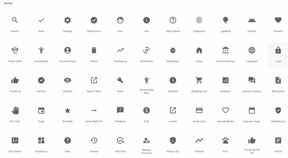 Icons - Google Fonts