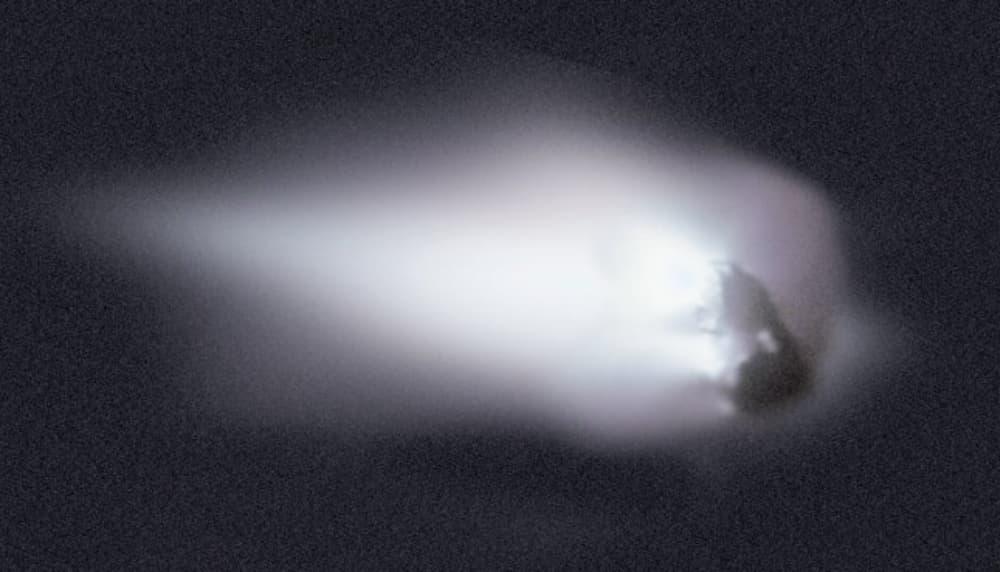 El núcleo del Halley visto por la sonda Giotto – ESA/MPAe Lindau