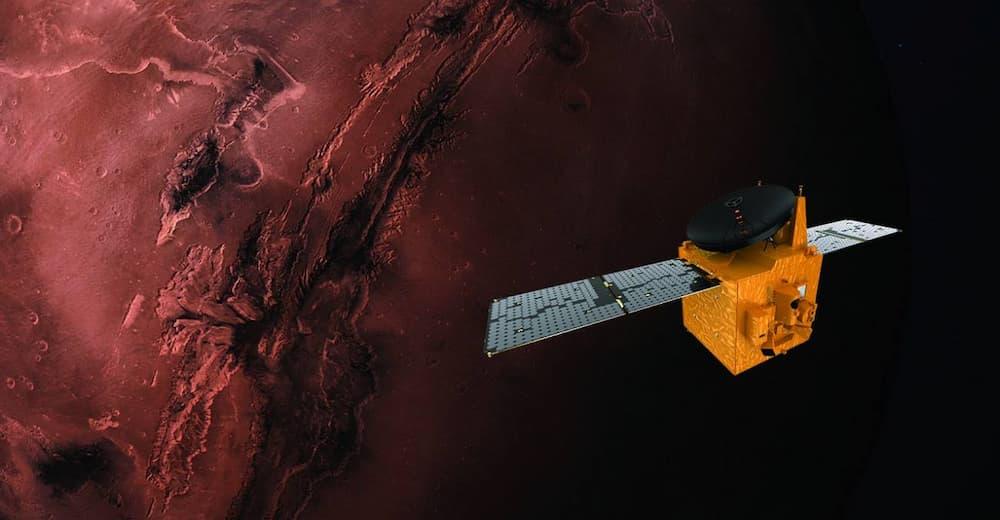 Impresión artística de Hope sobre Marte – MBRSC