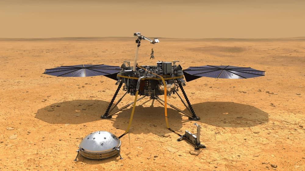 Impresión artística de InSight en Marte – NASA/JPL-Caltech