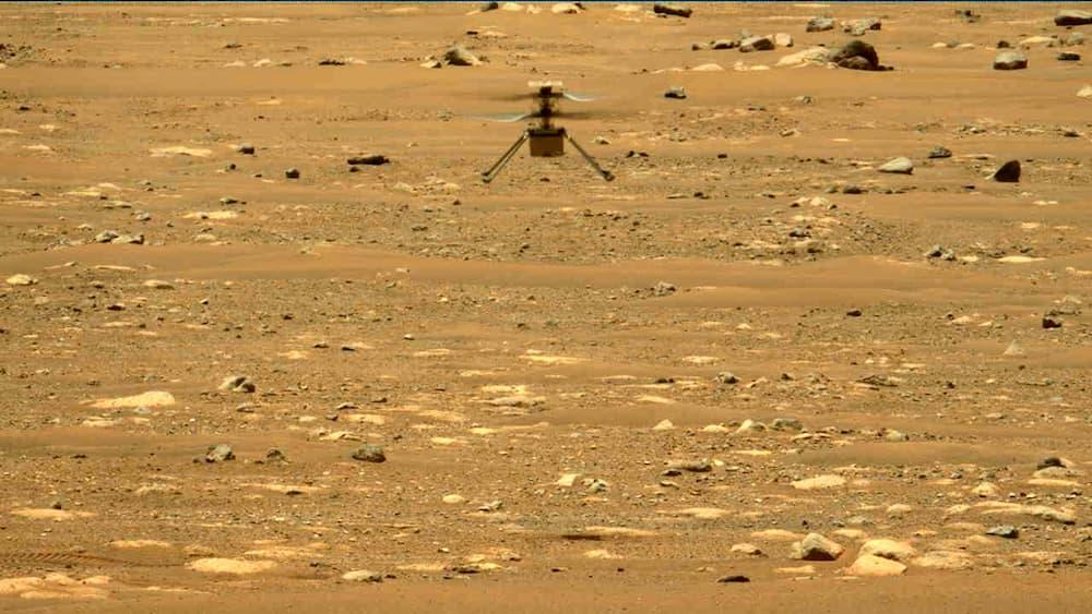 Ingenuity en su segundo vuelo visto por Perseverance – NASA/JPL-Caltech/MSSS