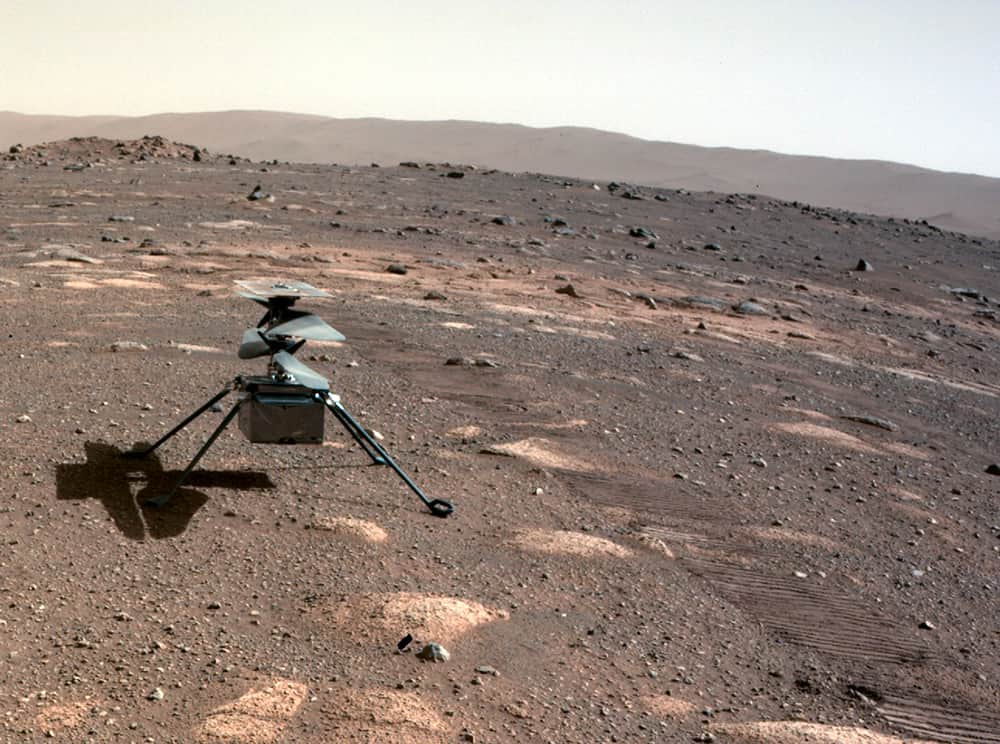 Ingenuity sobre Marte – NASA/JPL-Caltech