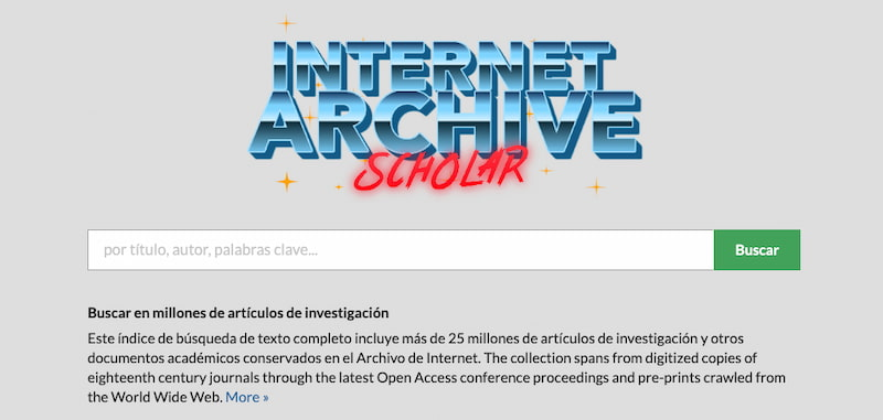 Archivo de Internet Académico