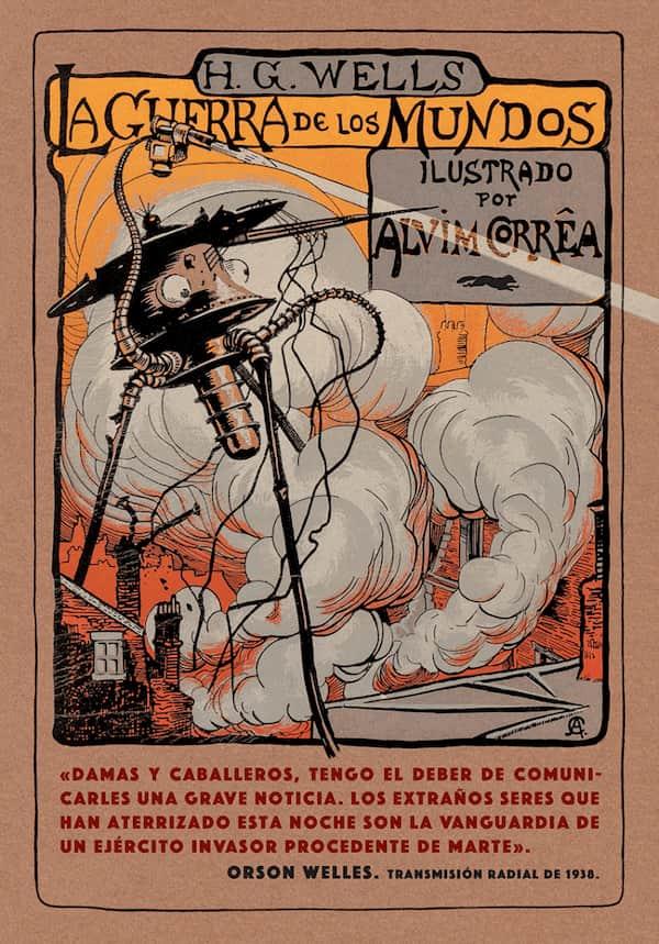 Portada de La guerra de los mundos en la edición de Libros del Zorro Rojo